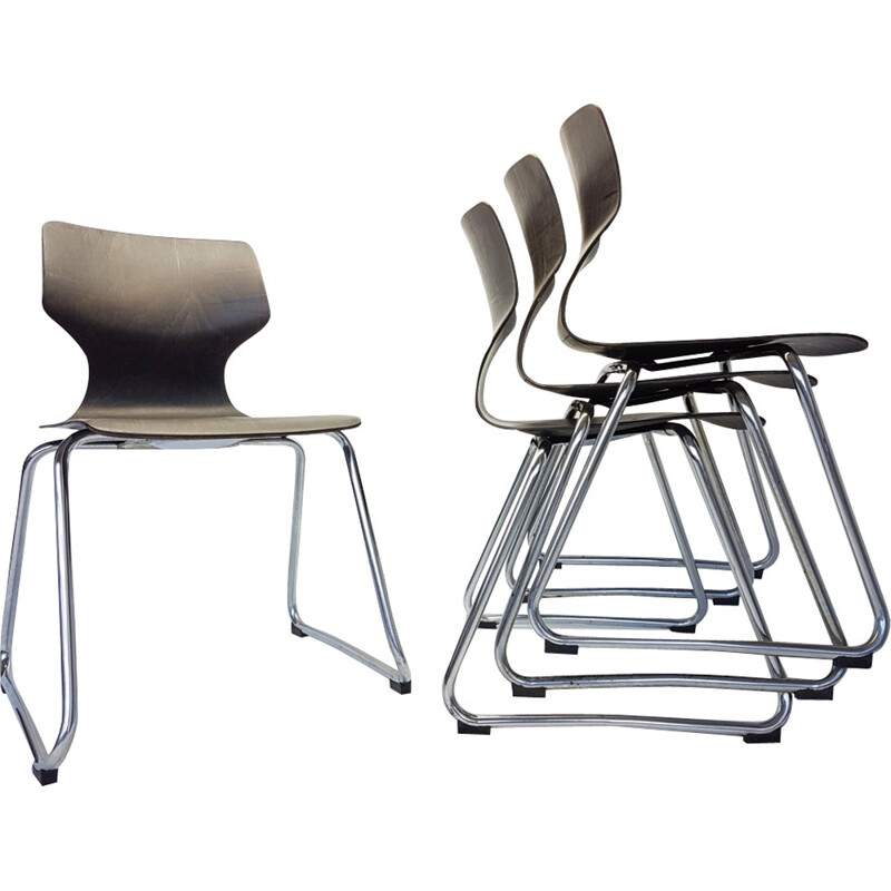 Vintage Chairs by Adam Stegner for Flötotto - 1960s