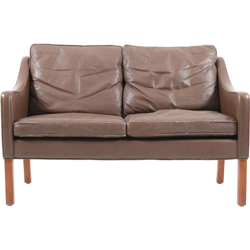 Leather Sofa 2208 by Børge Mogensen for Fredericia Furniture - 1960s