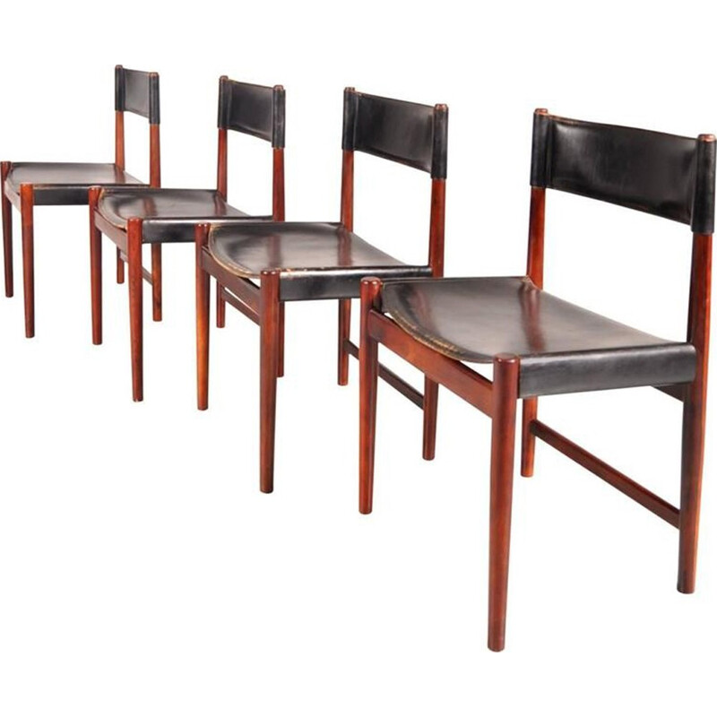 Set of 4 dining chairs by Arne Vodder for Sibast - 1950s