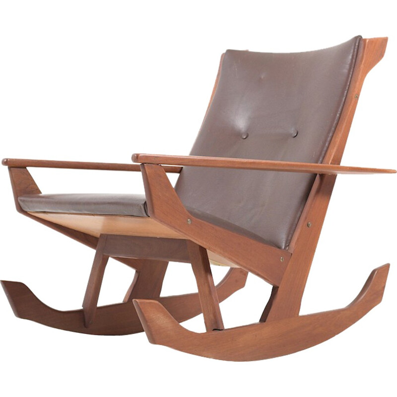 Rocking chair in solid teak by Georg Jensen for Kubus - 1960s
