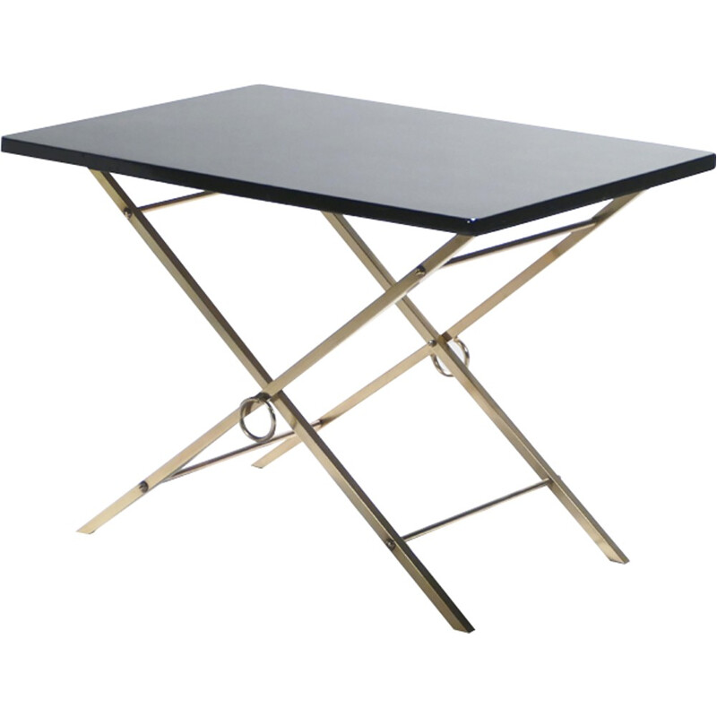 Lacquered brass side table - 1960s