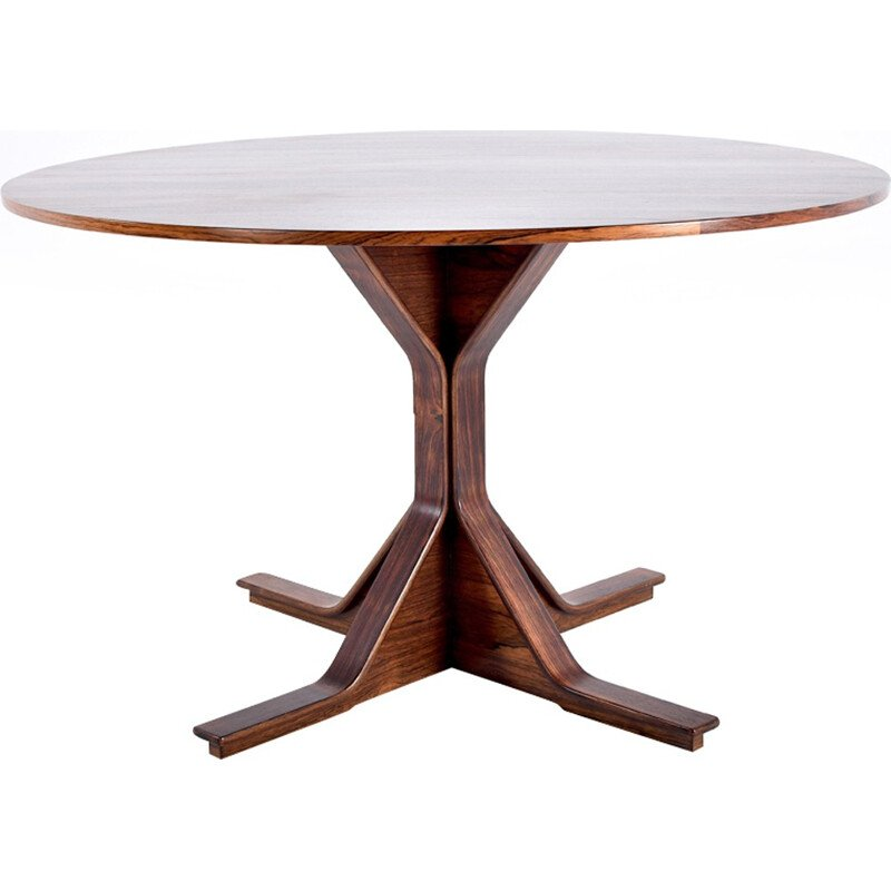 Table in rosewood by Gianfranco Frattini for Bernini - 1950s
