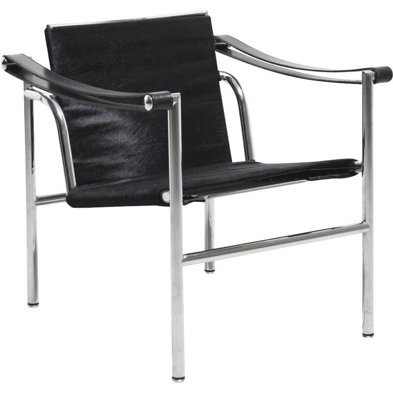 Vintage LC1 Armchair by Le Corbusier, Jeanneret, Perriand for Cassina - 1980s