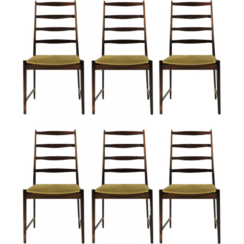 Set of 6 rosewood dinning chairs by Torbjorn Afdal for Vamo Sonderborg - 1960s