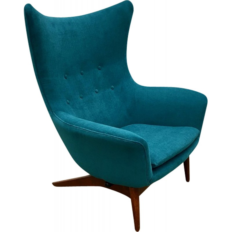 Vintage Reclining Lounge Chair Model 207 by H.W. Klein for Bramin Møbler, Denmark - 1963