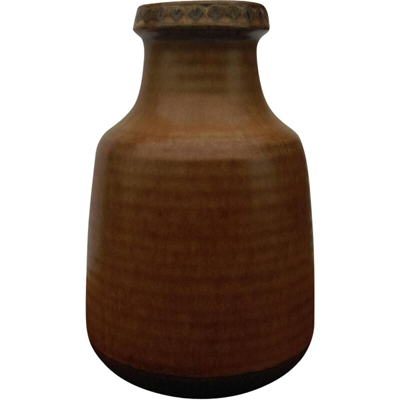 Brown Ceramic Vase by Gunnar Nylund for Rörstrand G.N. Sweden - 1960s