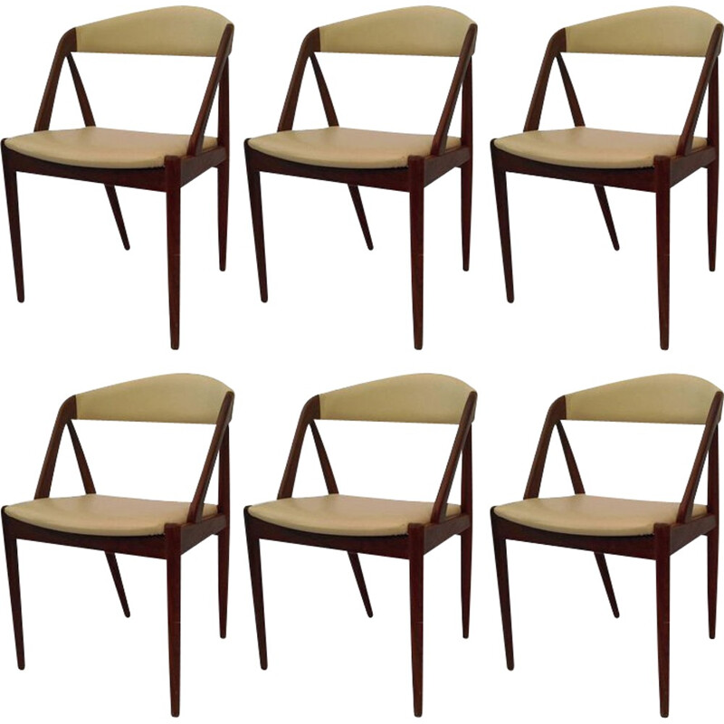 Set of 6 Model 31 dining chairs in teak by Kai Kristiansen for Schou-Andersens Møbelfabrik - 1960s