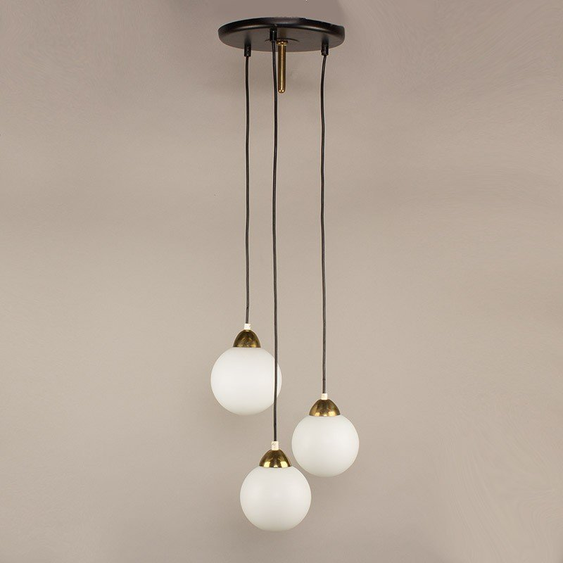 Lamps Antique Globe Opaline White For Suspension Chandelier