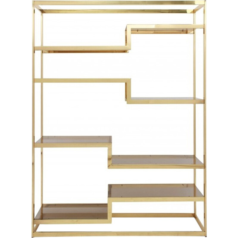Gold Plated Etagere by Roméo Rega - 1980s