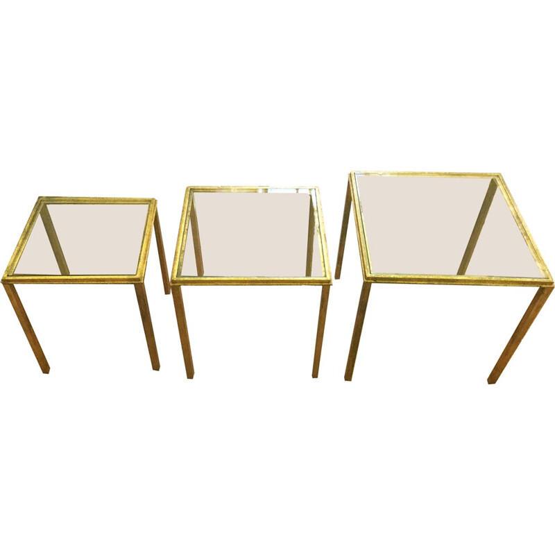 Three nesting tables by Roger Thibier - 1960s