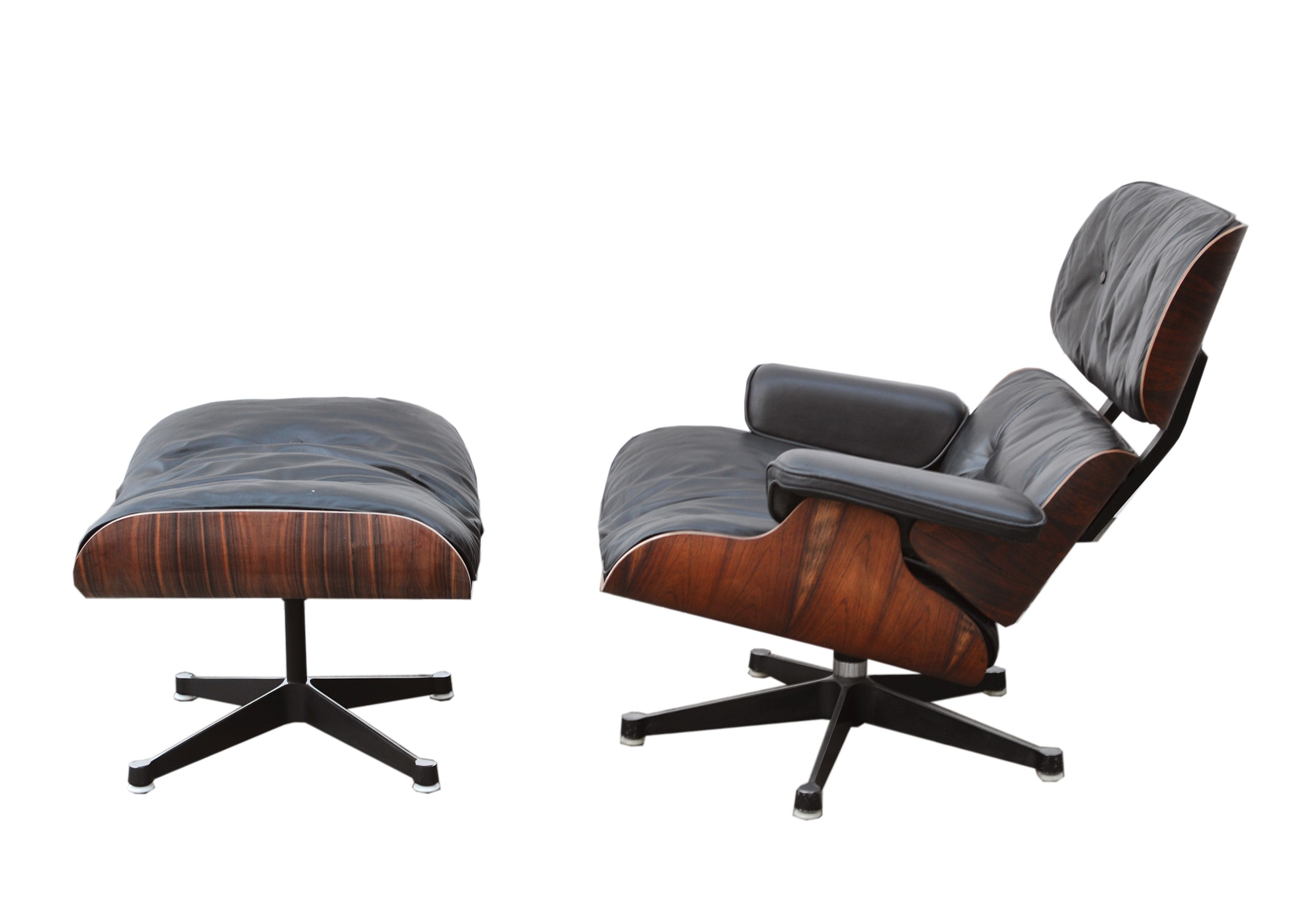 Vitra Chalres Eames : Vintage lounge chair & ottoman by charles eames for vitra 1980s