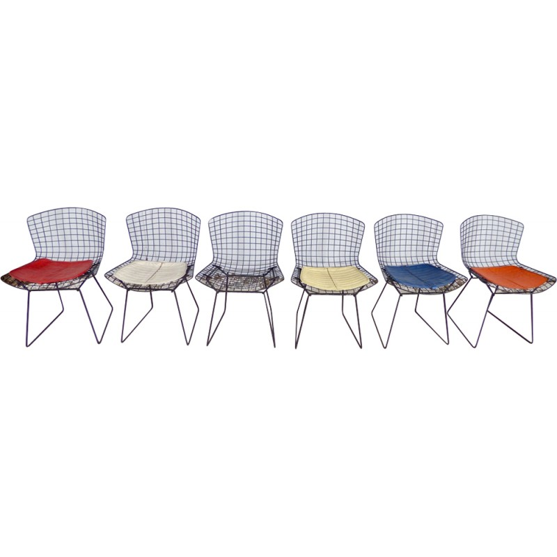 set of 6 chairs by harry bertoia for knoll 1960s design market