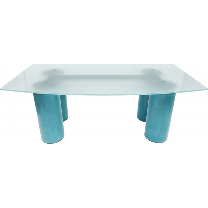 Crystal Serenissimo coffee table by David Law for Acerbis - 1980s