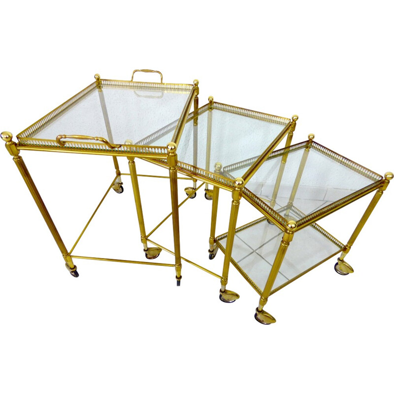 Pull-out nesting tables by Bagues House - 1960s