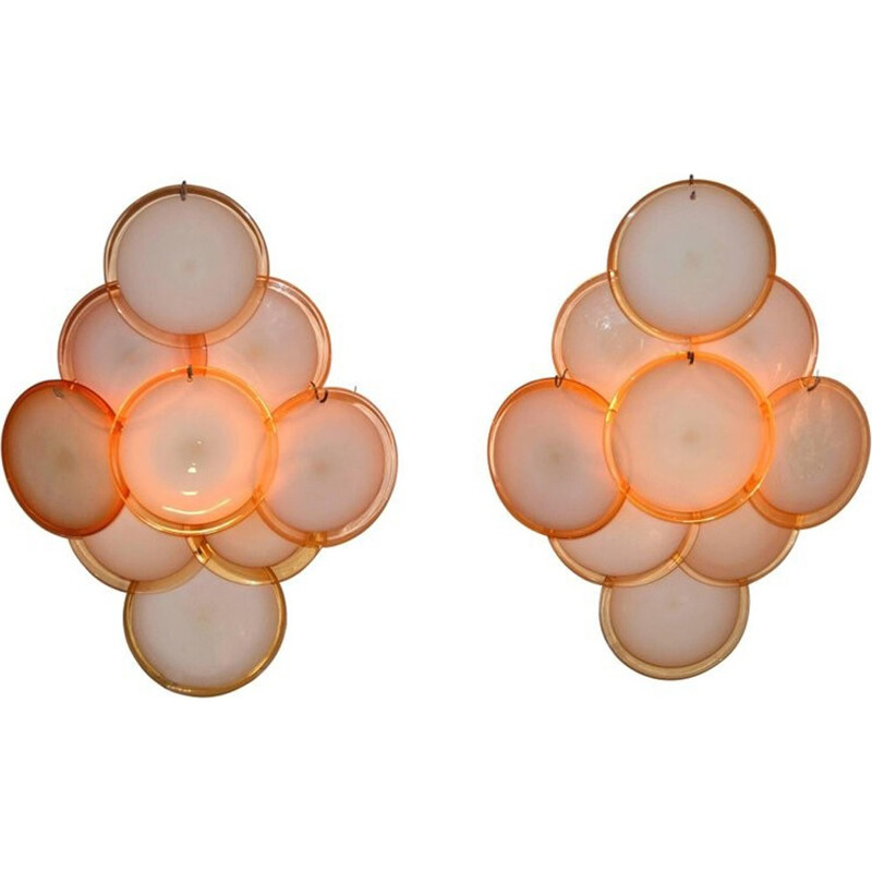 Vintage Disc Wall Sconces by Vistosi - 1960s