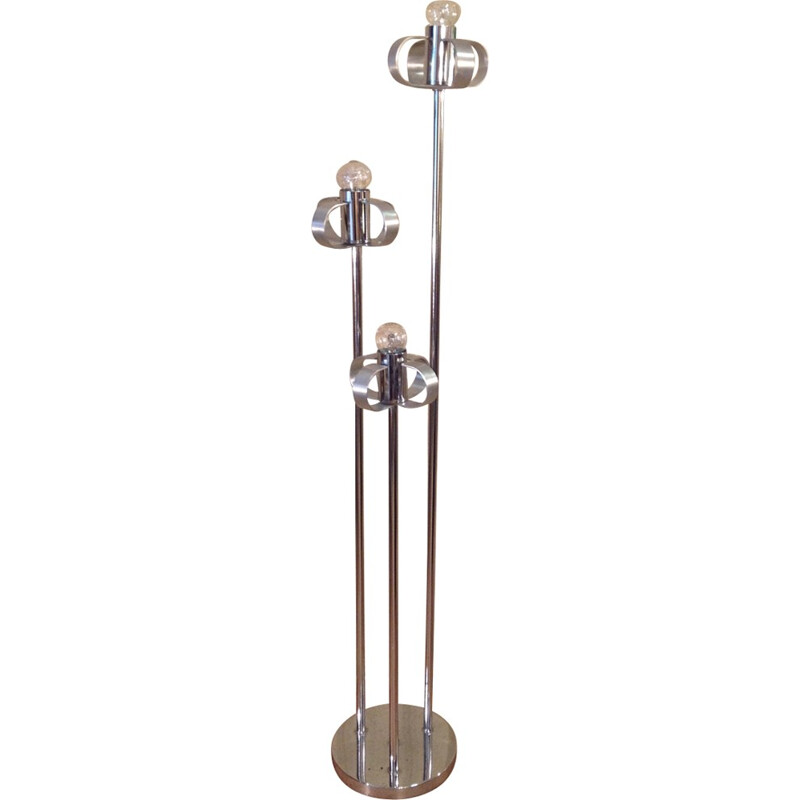 Vintage floor lamp with 3 lights - 1970s