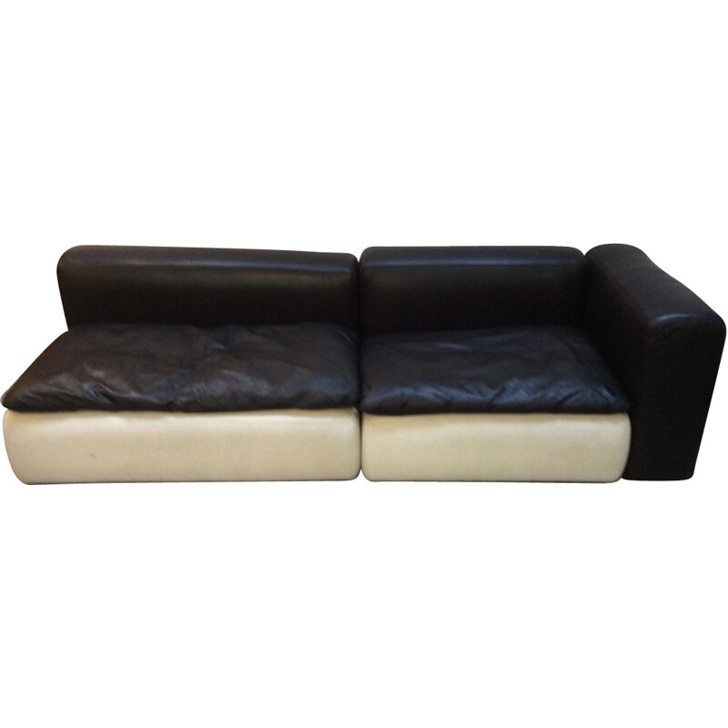Modular leather sofa - 1970s