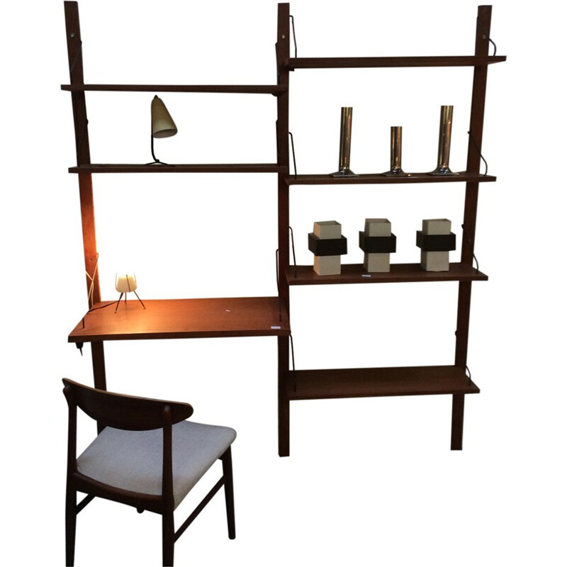 Wall and modular Bookcase by Poul Cadovius - 1960s