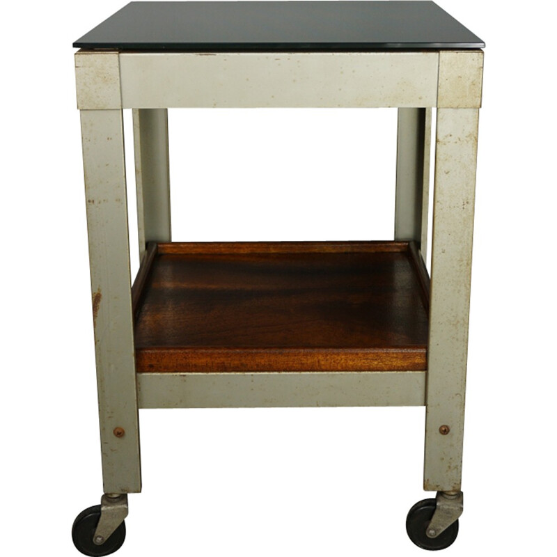 Industrial side table - 1950s
