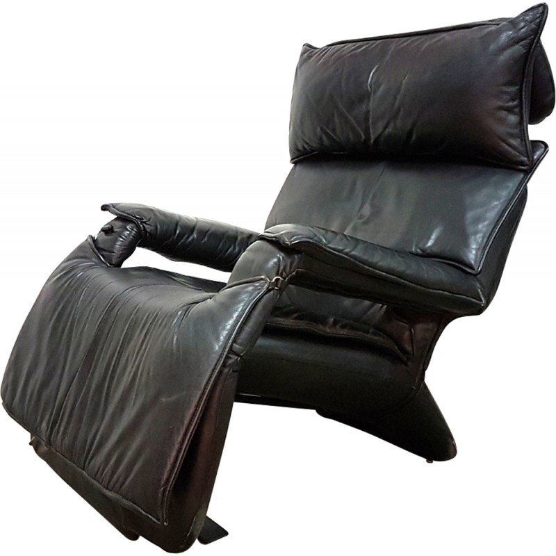 Leather Recliner By Percival Lafer   1970s