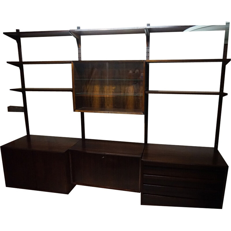 Scandinavian modular rosewood bookcase by Poul Cadovius - 1960s