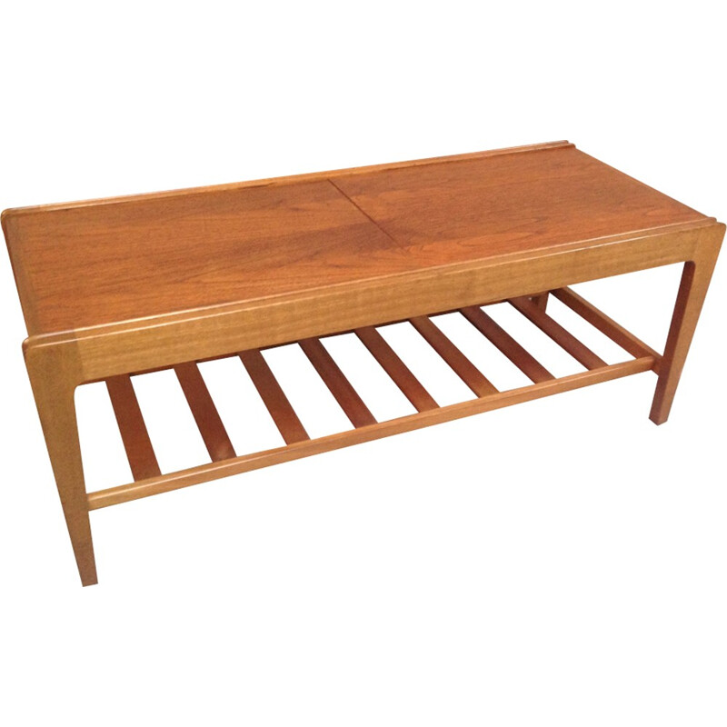 Vintage english coffee table in teak - 1970s