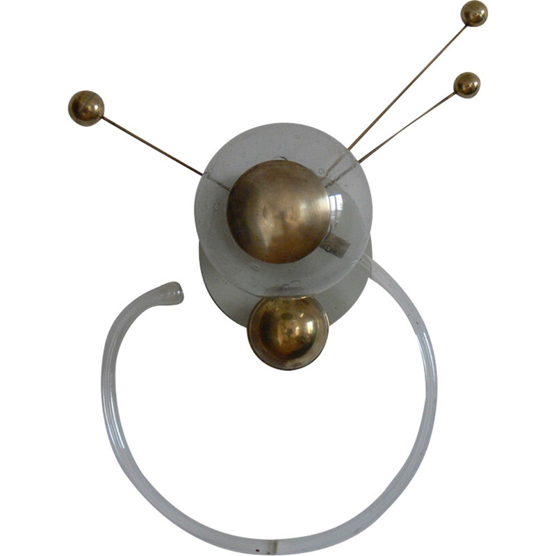 Pair of glass Sputnik wall lamps - 1960s