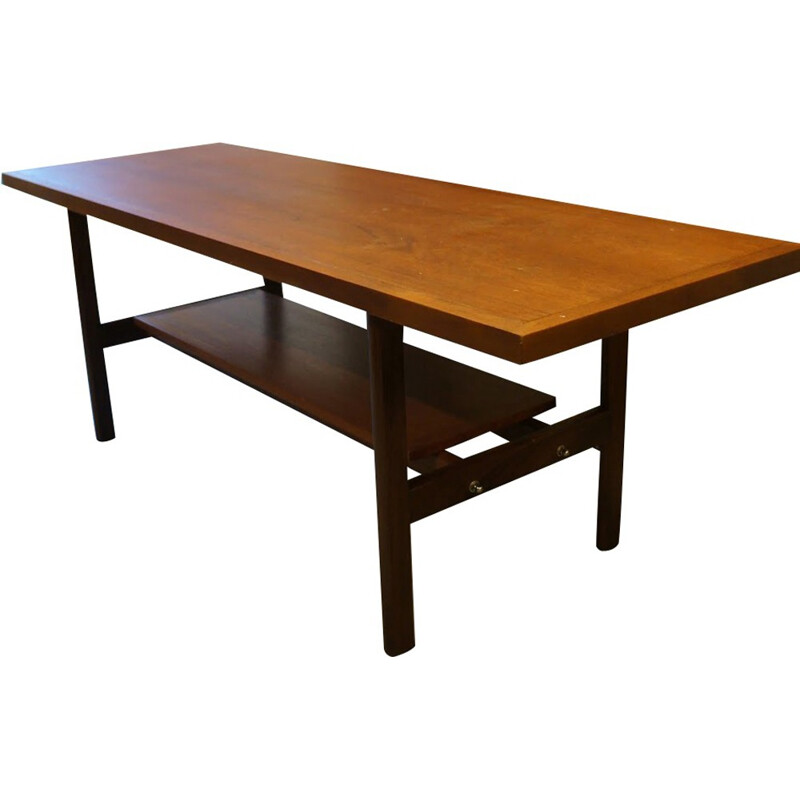 Vintage scandinavian teak coffee table - 1960s