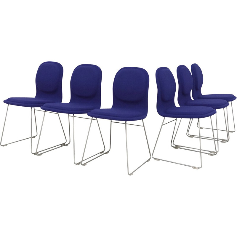 Set of 6 Jasper Morrison High Pad Chairs for Cappellini - 1990s
