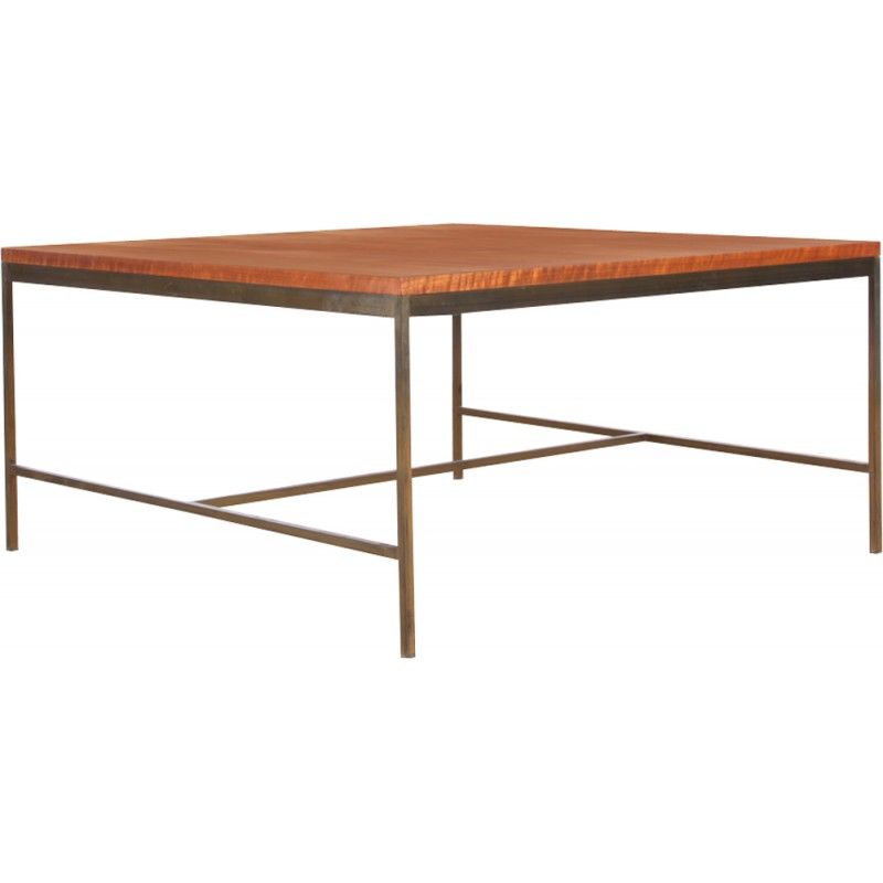 Square Coffee Table In Teak And Brass By Paul McCobb