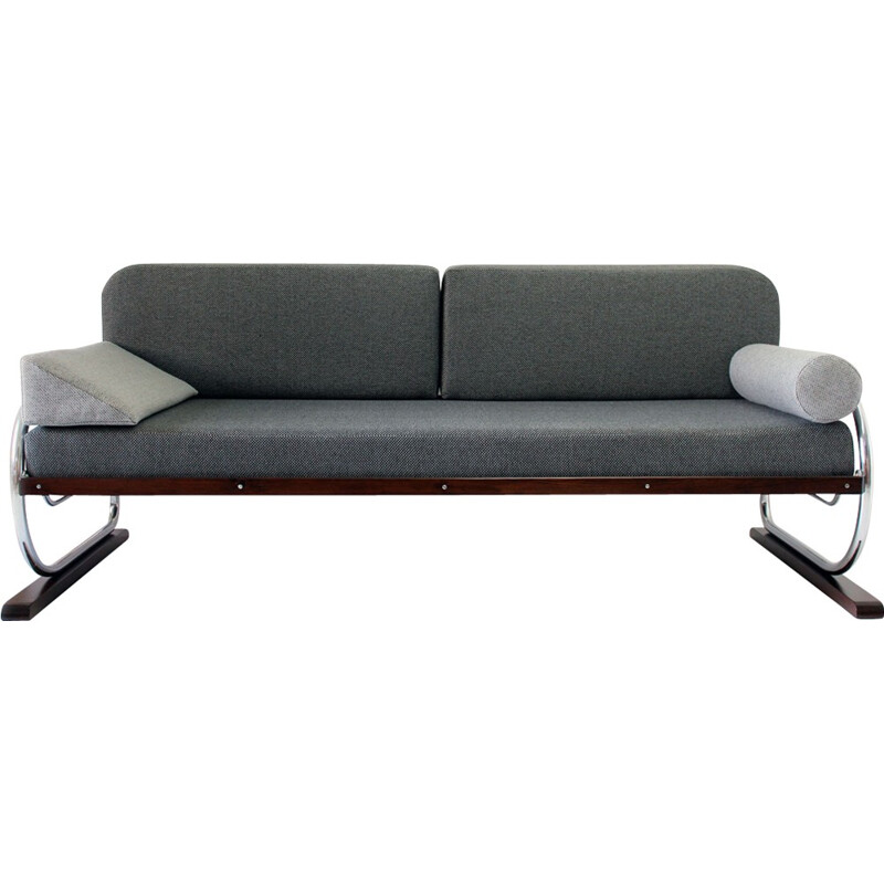 Chrome Tubular Framed Sofa from Hynek Gottwald - 1930s