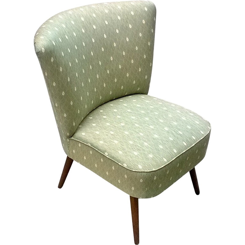 Vintage cocktail green water armchair - 1960s
