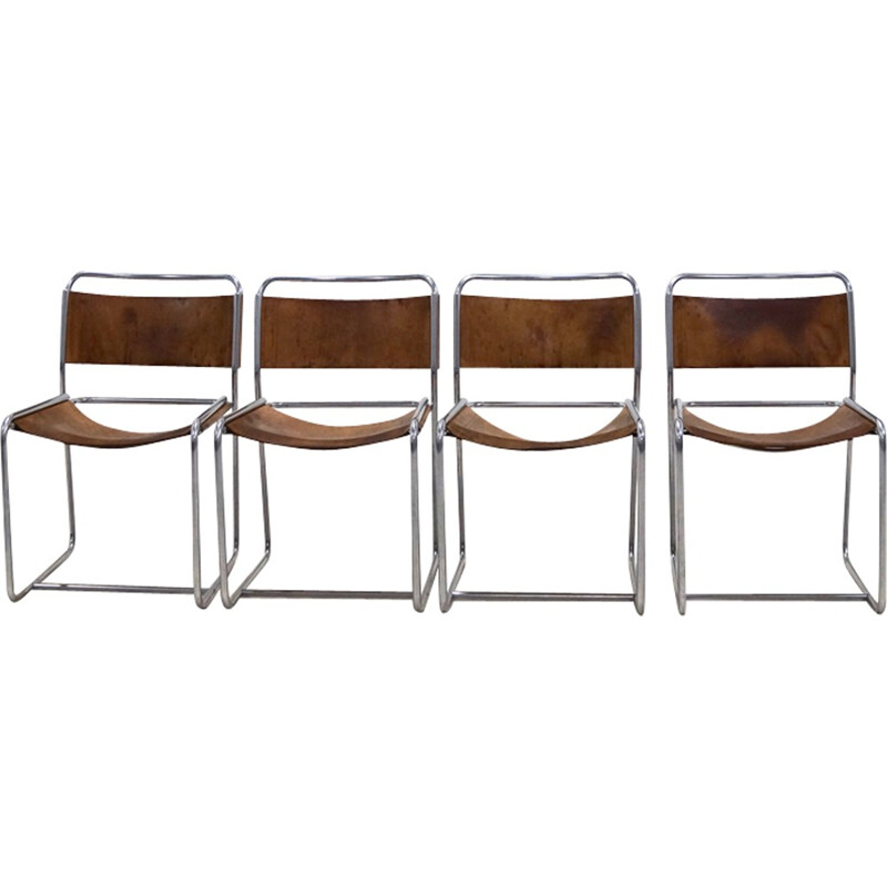 Set of 4 SE18 Dining chairs by Claire Bataille & Paul Ibens for 't Spectrum - 1970s