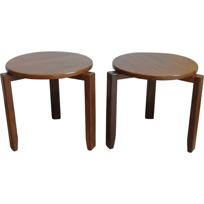 Pair of mid-century stacking tables - 1960s