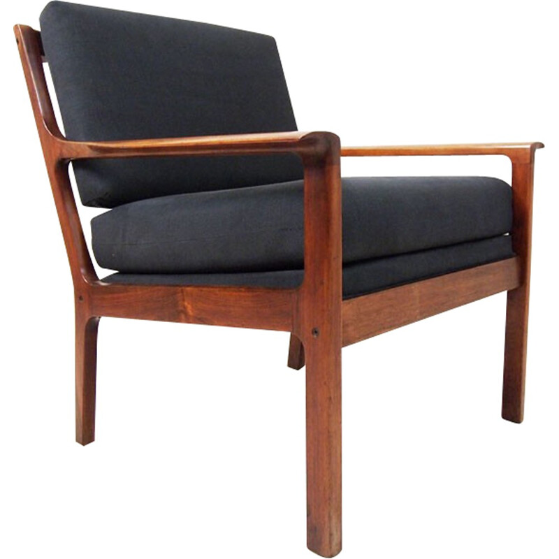 Rosewood lounge chair by Hans Olsen for Vatne Møbler - 1960s