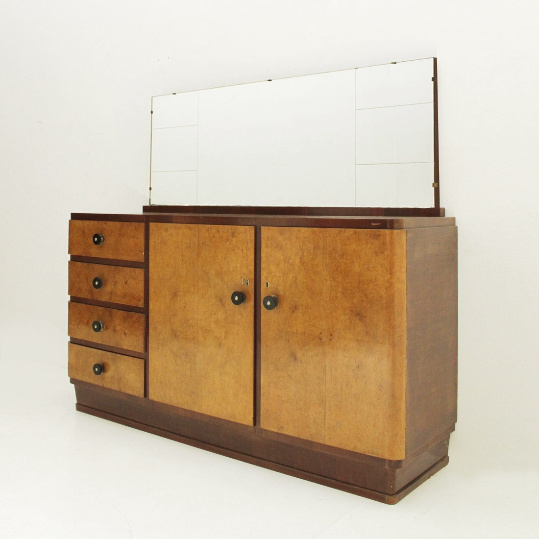 Italian Mid Century Sideboard With Mirror Top 1930s