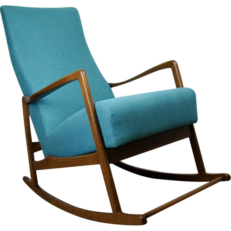 Vintage rocking chair in beech - 1960s