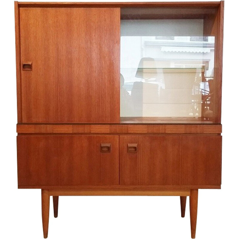 Sideboard in teak and glass - 1960s