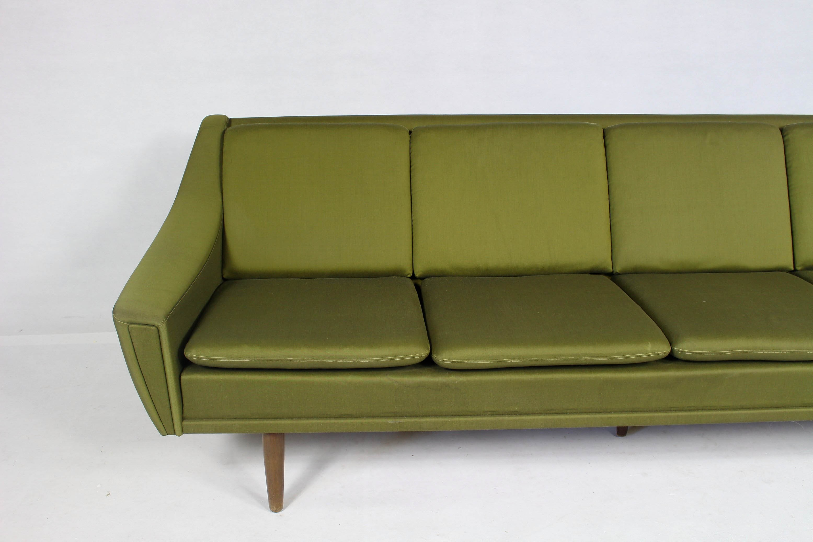 Danish Mid Century Modern Sofa 1960s Design Market ~ Tan Leather Mid Century Sofa