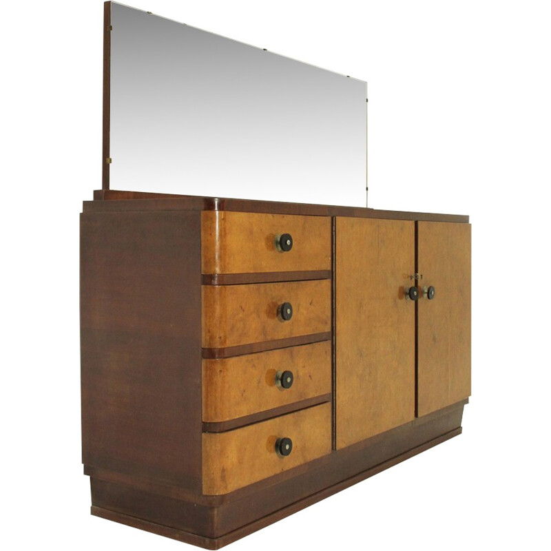 Italian mid-century sideboard with mirror top - 1930s