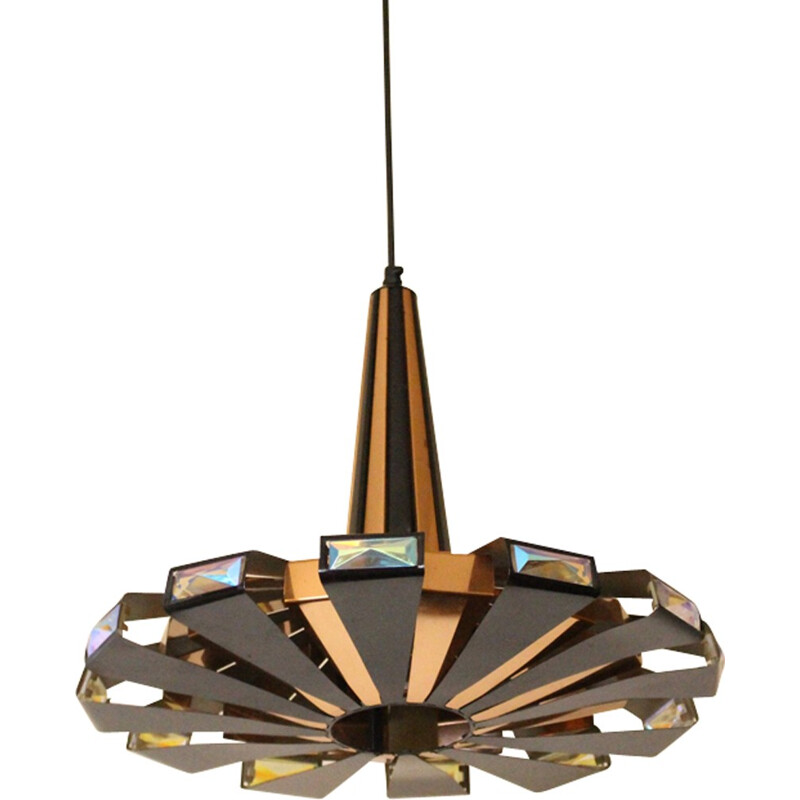 Mid-century Danish Pendant lamp by Werner Schou for Coronell Elektro - 1970s