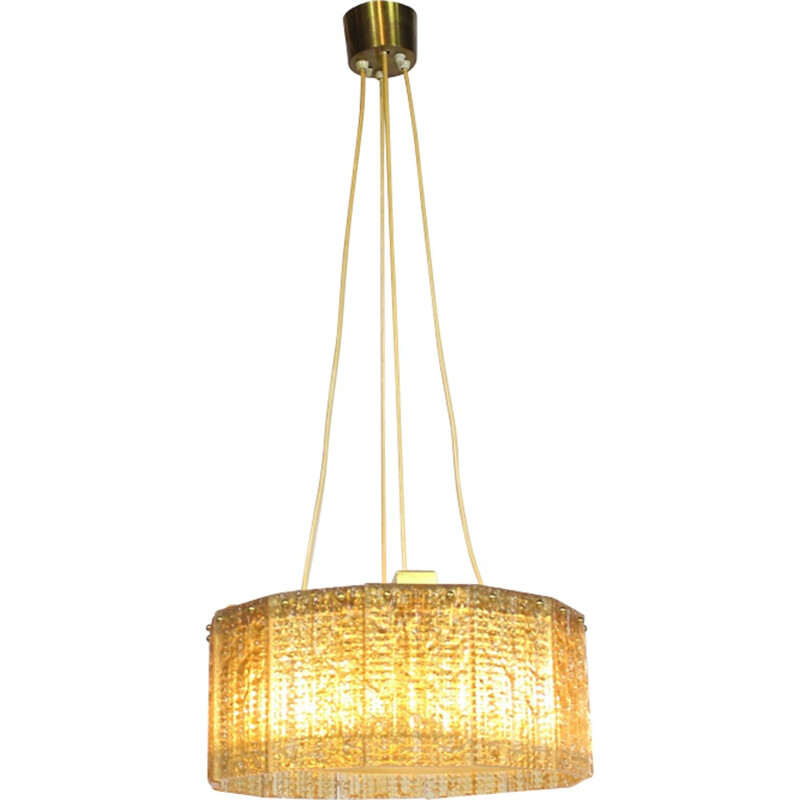 Mid-century Glass Pendant lamp by Carl Fagerlund for Orrefors - 1970s