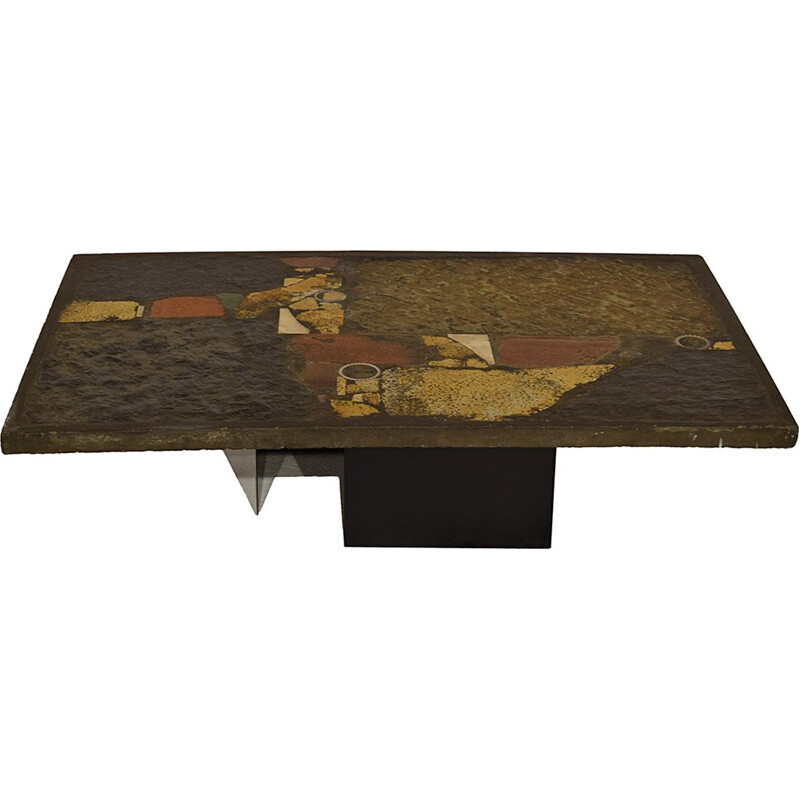 Brutalist coffee table by Paul Kingma - 1970s