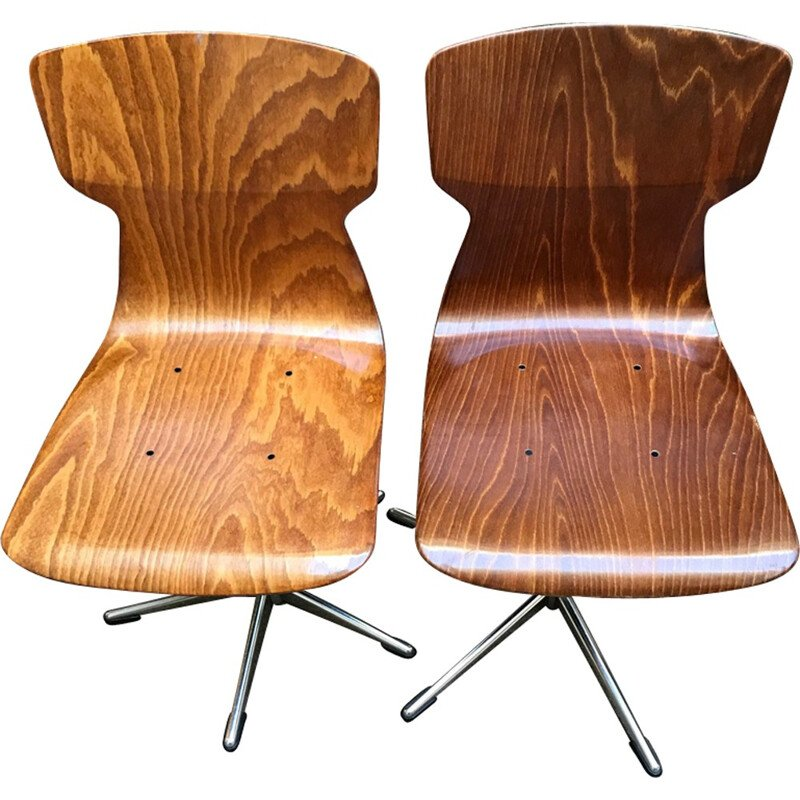 Vintage Pair of Pagholz Chairs - 1970s