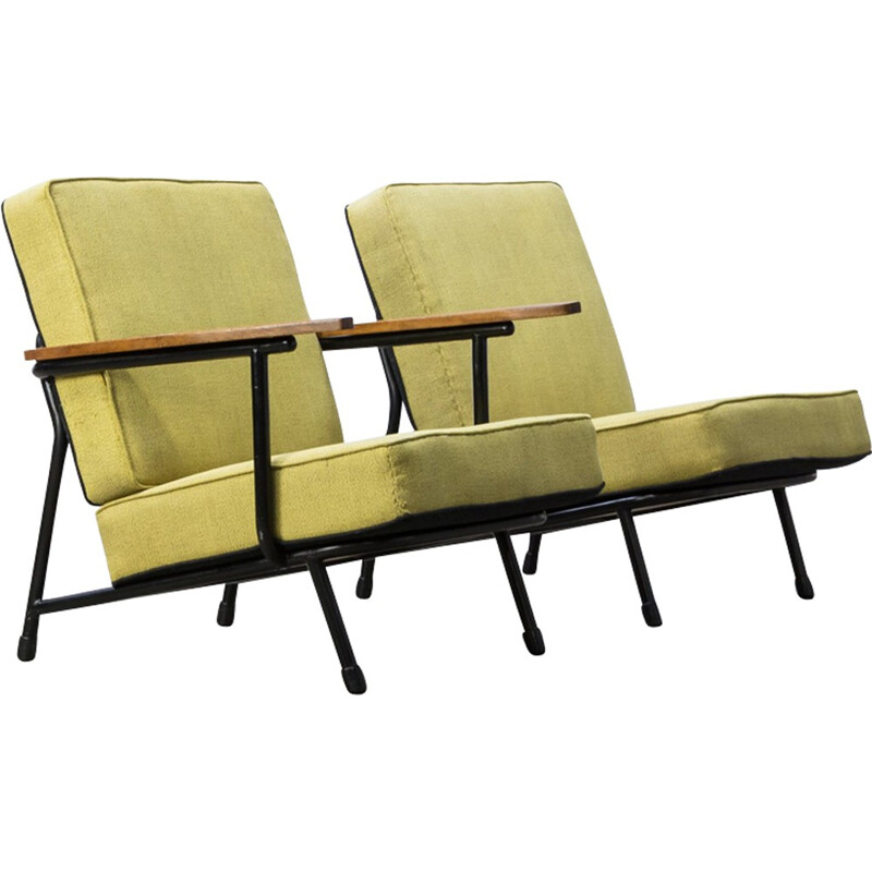 Pair of vintage low back armchairs by Alf Svensson for Dux - 1960s