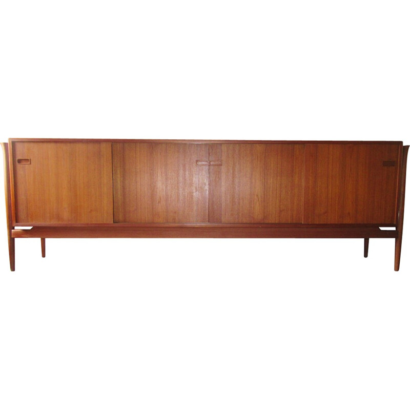 Scandinavian row teak by Finn Juhl for Samcom - 1950s