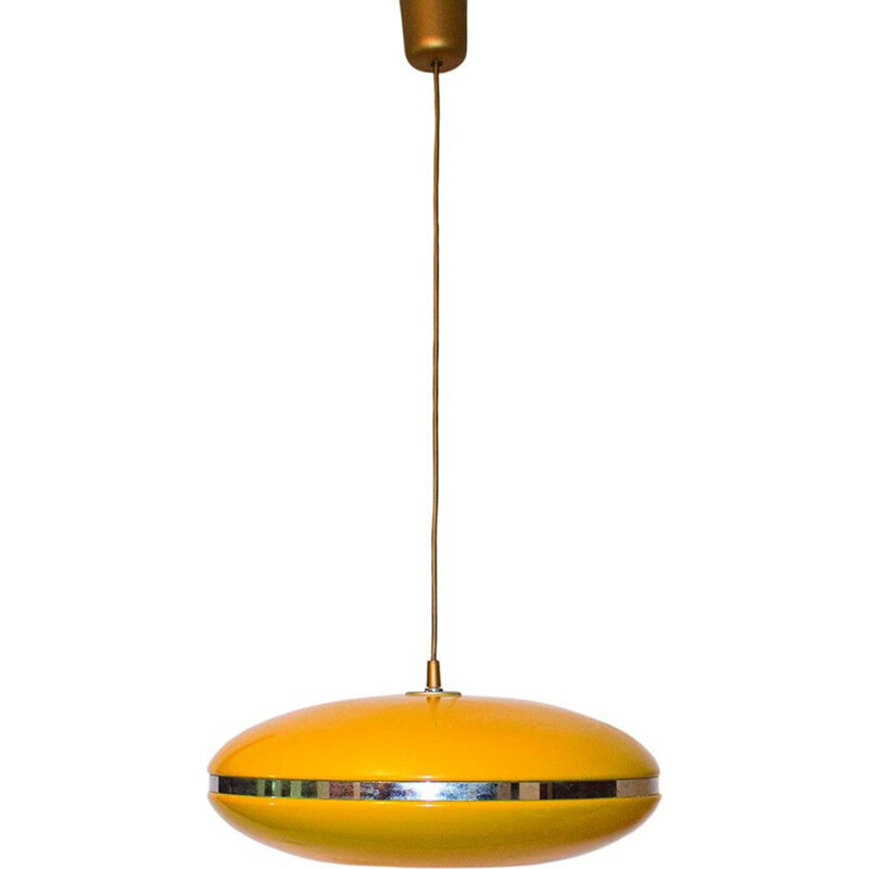 Vintage yellow ceiling lamp - 1960s