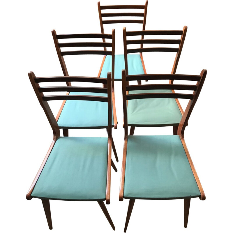 Set of 5 vintage chairs by Paolo Buffa - 1960s