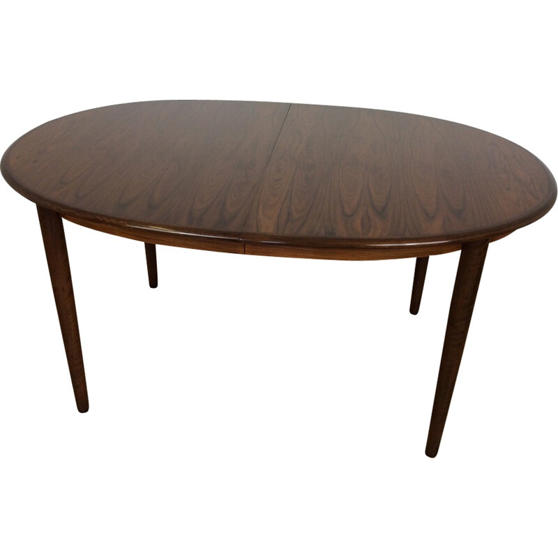 Vintage rosewood extendable dining table - 1960s