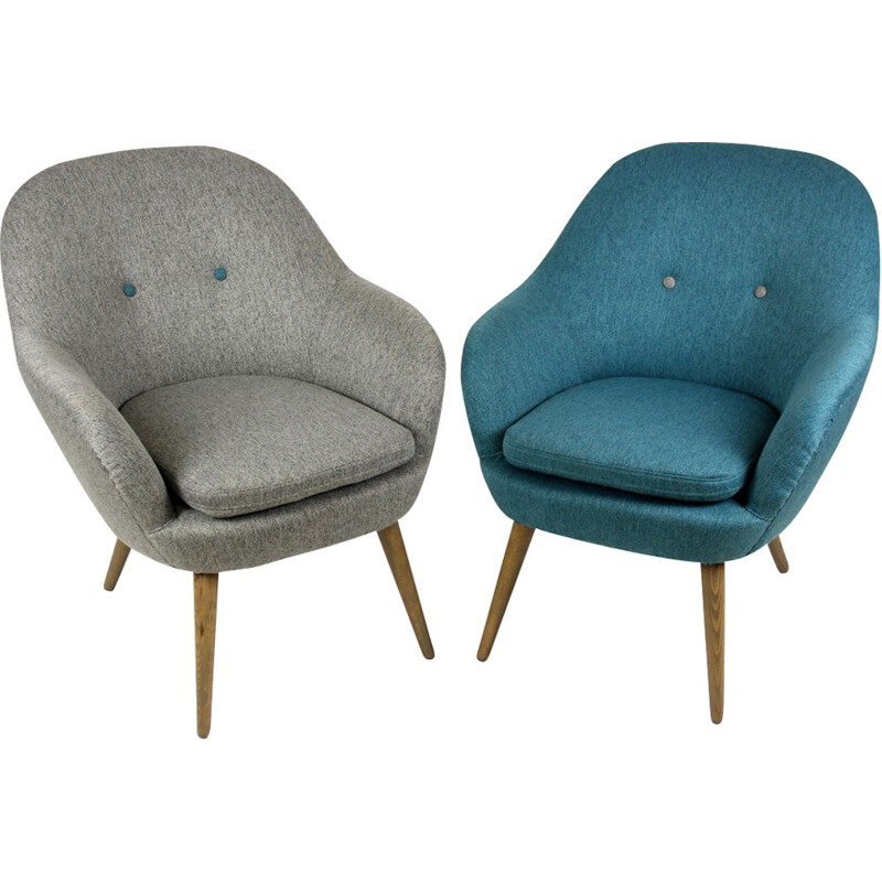 Pair of vintage lounge armchairs - 1960s